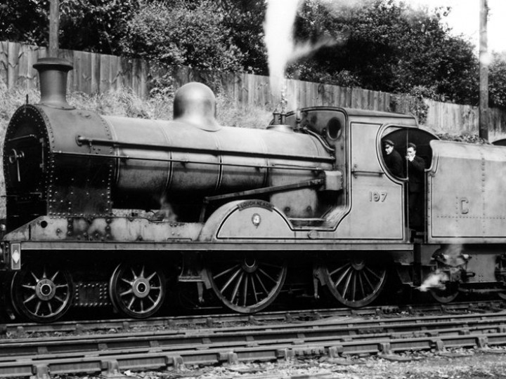 U class No.197 'Lough Neagh' and tender 43 at Dundalk.