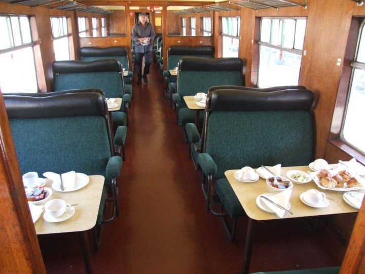 2/6/2010: Interior of 1463 set for tea on a private charter to Wicklow. (M.Hoey)