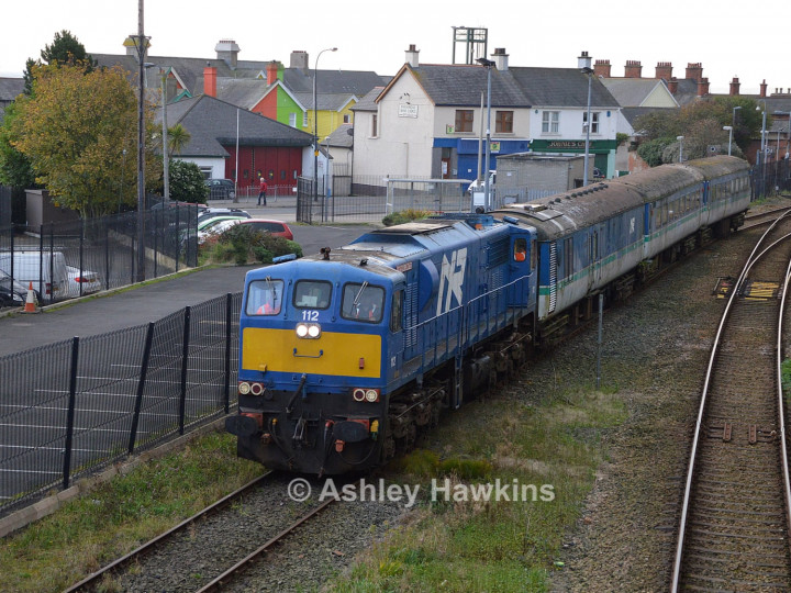 15/10/2017: NIR's 112 delivers 8945, 8947 and generator van 8911 to Whitehead from temporary storage in Adelaide. (A. Hawkins)