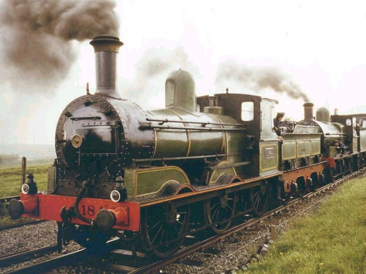 May 1979: No.184 (with No.186) on the 'Croagh Patrick' to Westport railtour. (B. Pickup)