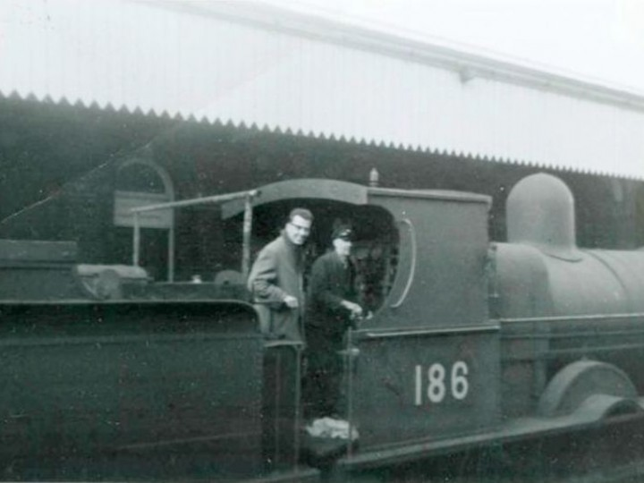 Eamonn Jordan taking delivery of No.186 at Portadown in 1965, before the official handover in Belfast.
