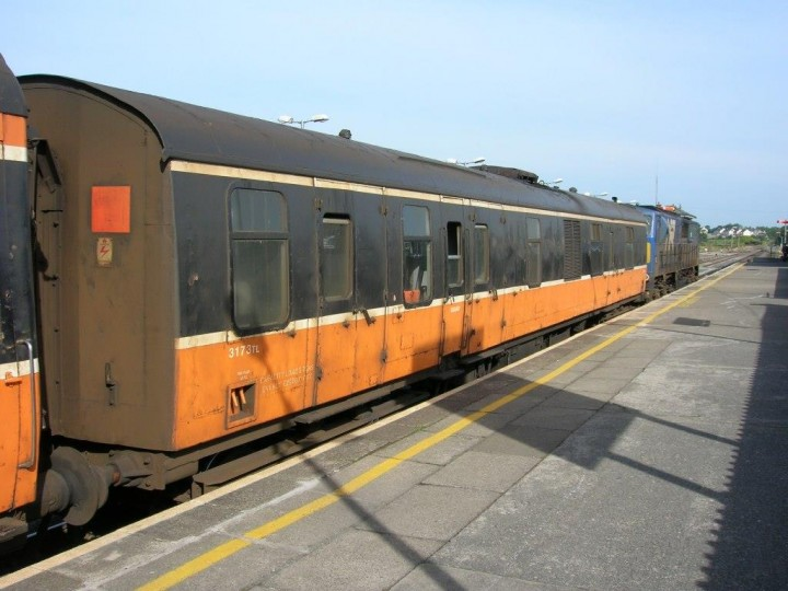 16/7/2006: 3173 at Claremorris on the Ballina branch train, in its final year of IÉ service (G.Owens)