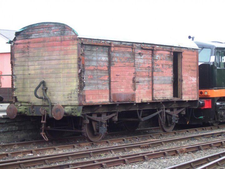 20/6/2010: The brown van is shunted to the front of the yard to go off for restoration. (M.Walsh)