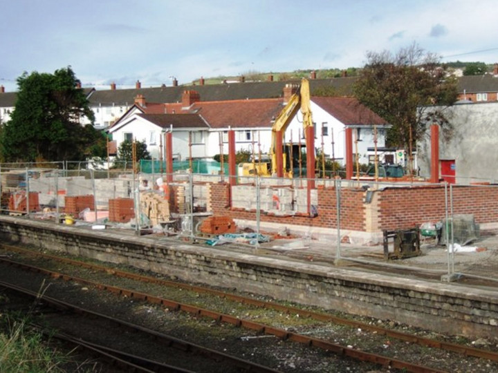 1/11/2012: By this date the building work was proceeding at a rapid pace. (M. Walsh)