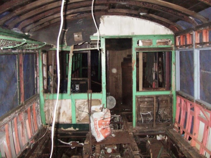 The central guard's compartment with the large heating boiler visible. 15th February 2013. (M.Walsh)