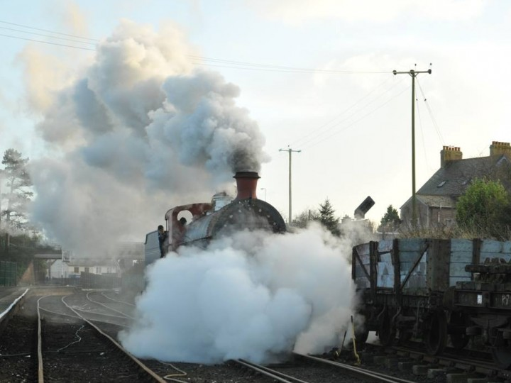 Making an impressive sight, No.131 moves on its own for the first time on 31st January 2015. (C.P.Friel)