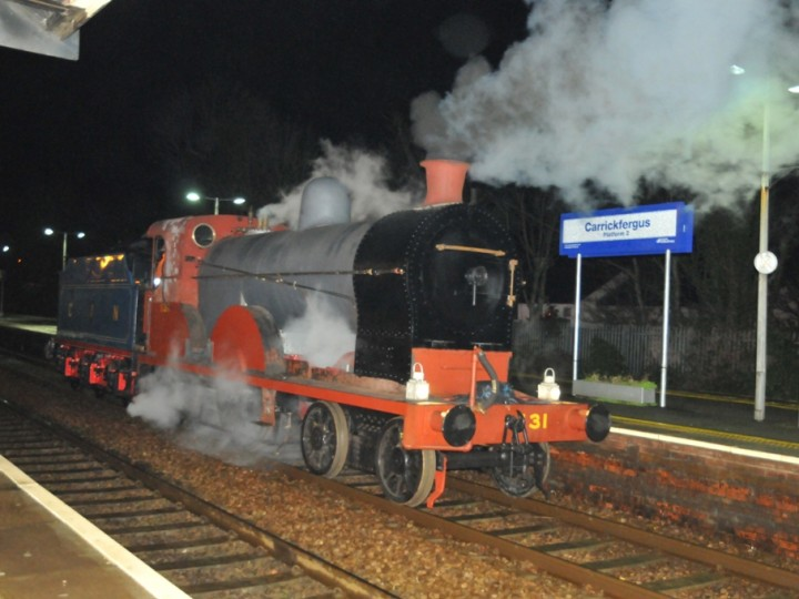 No.131 at Carrickfergus, ready to return to Whitehead on 22nd February 2015. (C.P.Friel)