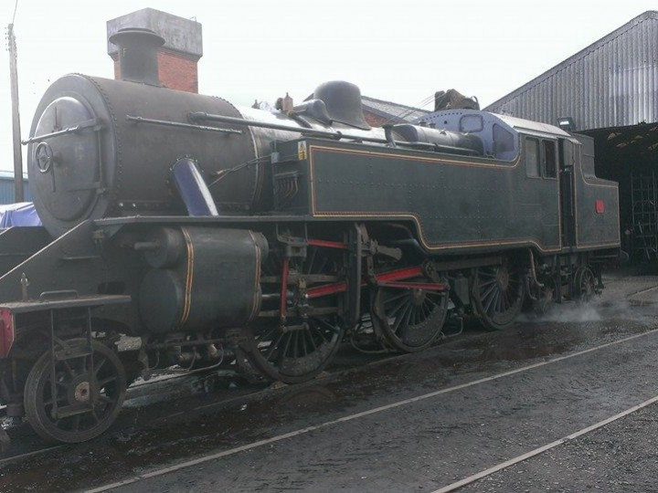 No.4 is prepared for a steam test in advance of its return to traffic, 28th May 2015. (J.Adams)
