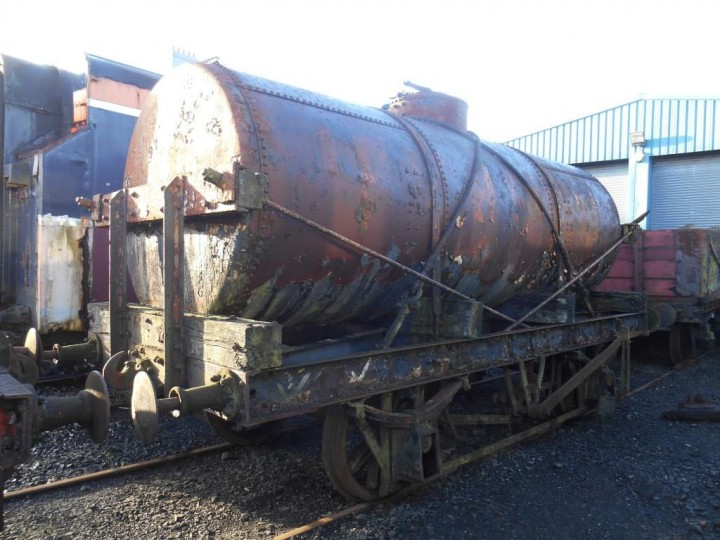 On 30/1/2016, unrestored and missing its bearings, which were removed for safe keeping at some time in the past, 602 finds itself at the front of the sheds for the first time in many years due to the building work on the Larne end of the storage sidings. (M.Walsh)