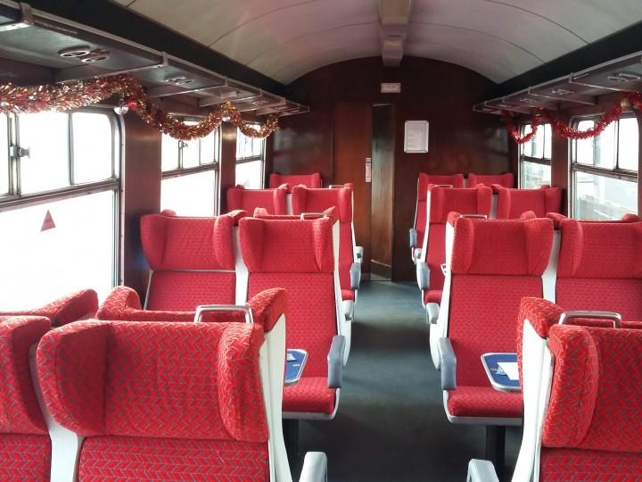 2/12/2017: 460's newly refurbished interior on a Santa train.