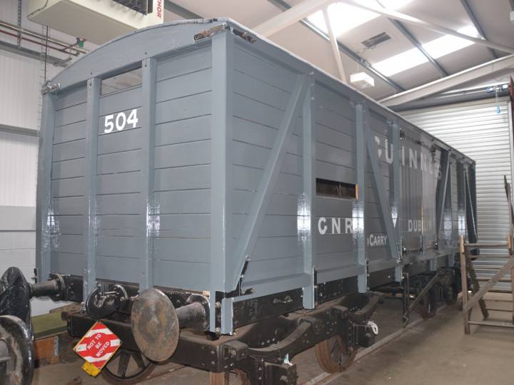 8/10/2020: The end has been painted and the sign writing completed, awaiting fitting of louvres. (E.B. Griffith)