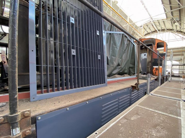 27/7/2021: One of the new radiator intake panels has been delivered. (G. Mooney)