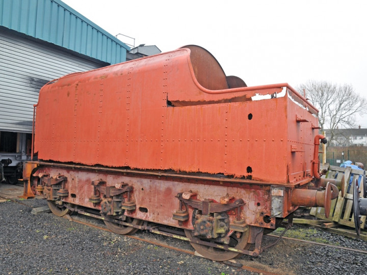 28/2/2019: The tender, now at Whitehead, cleaned and with protective paint. (C.P. Friel)