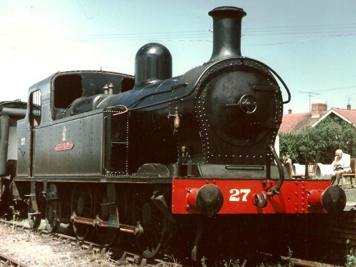 7/7/1993: No.27 'Lough Erne' on display as a static exhibit at Whitehead as part of an open day. (C.P. Friel)
