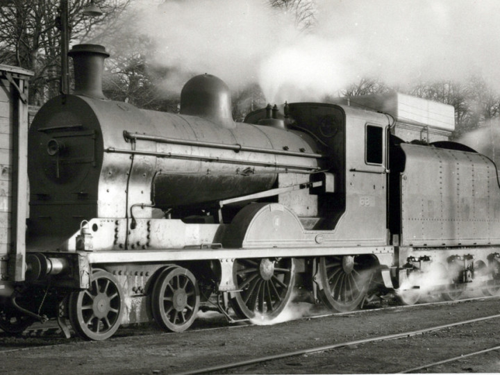 U class No.67 'Louth' (ex 202) in Lisburn yard with tender 46.