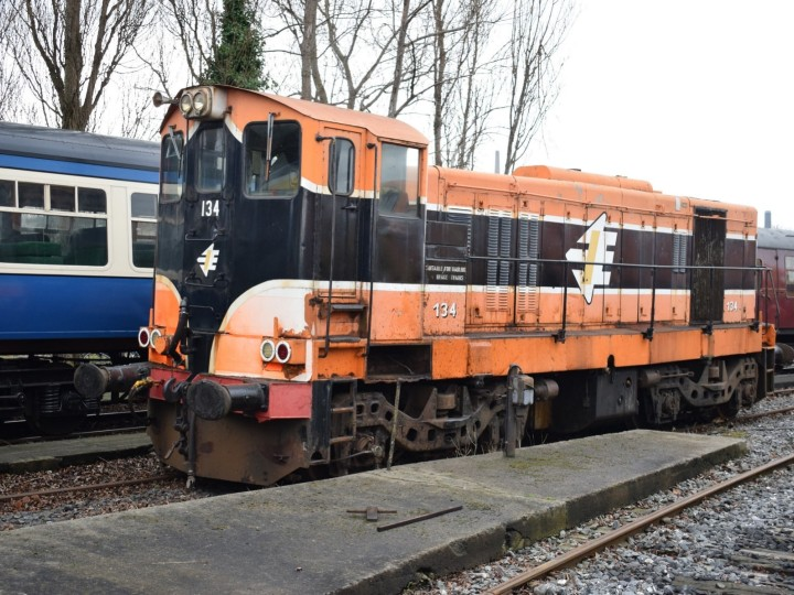 134 stabled alongside the RPSI cravens at Inchicore. (J.Monaghan)