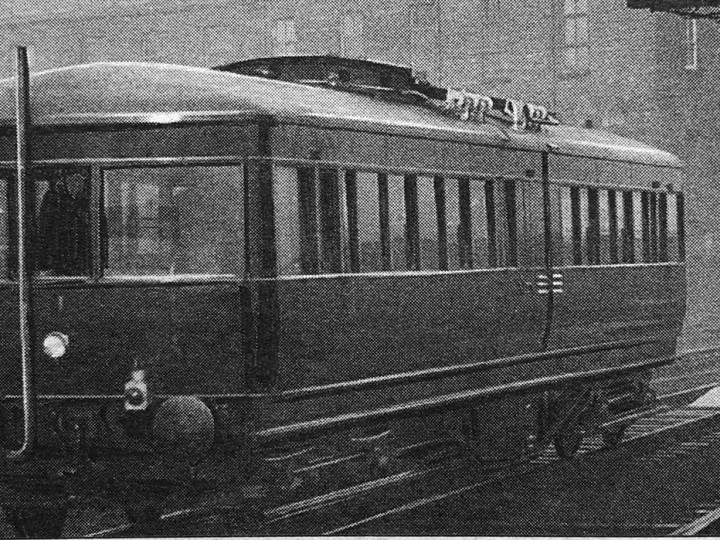 LMS-NCC railcar 1 undergoing testing at York Road in the 1930s. (Belfast Telegraph)