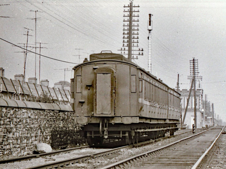 1969: 861 on the Works Train at Inchicore in the Up siding. (M.H.C. Baker)