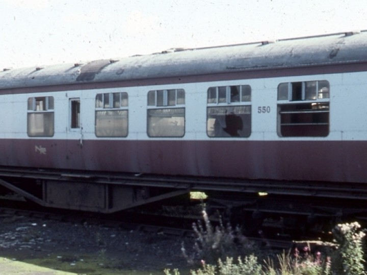 550 lying derelict at York Road station in 1978. This was around the time the RPSI was buying up carriages as they came out of service with NIR.
