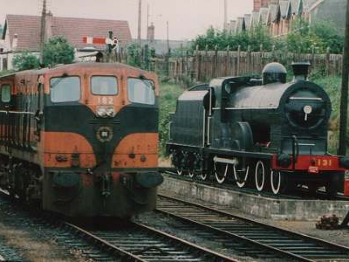 No.131, seen here beside an 181 class GM. (B.Pickup)