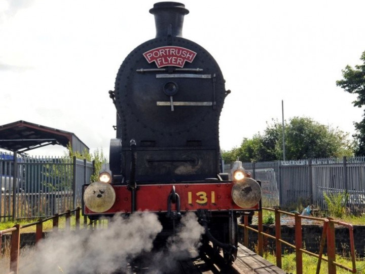 18/8/2019: Well away from its home ground, GNR(I) No.131. (J.J. Friel)