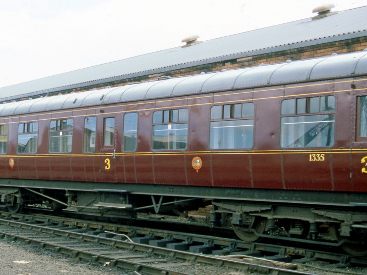 Belfast CSD on 9th August 1987, a few days before the 40th Anniversary Enterprise, when the carriage looked absolutely splendid inside and out. (C.P. Friel)