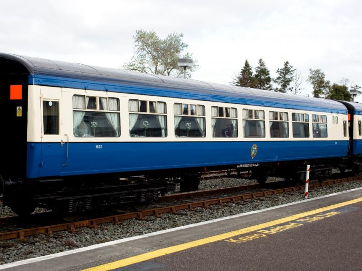 1/10/2014: Resplendent in the new RPSI livery, 1522 rests at Killarney during the 'Emerald Isle Express' charter. (S.Comiskey)