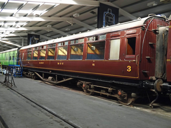 91, undergoing a repaint, is on display at the Whitehead Railway Museum, 26/10/2019. (J.A. Cassells)