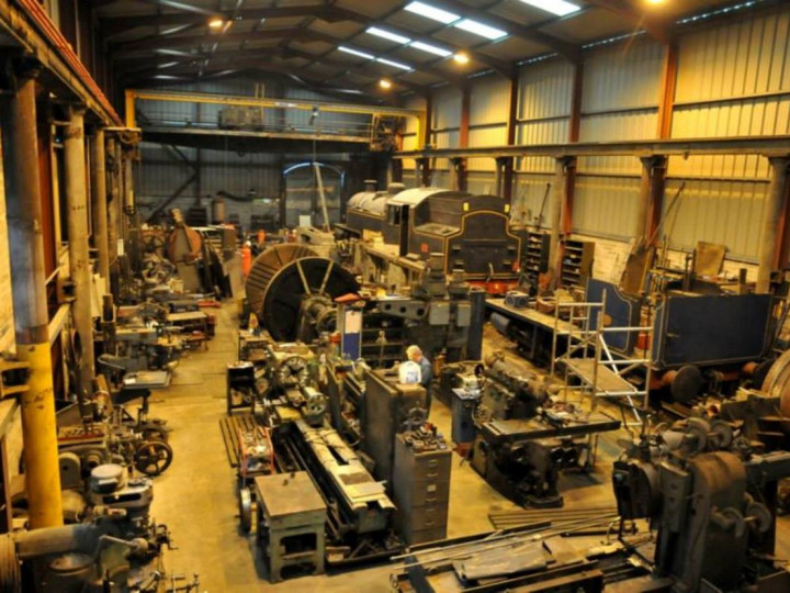 19/1/2015: An internal view of the workshop, showing the huge variety of tools and equipment. (C.P. Friel)