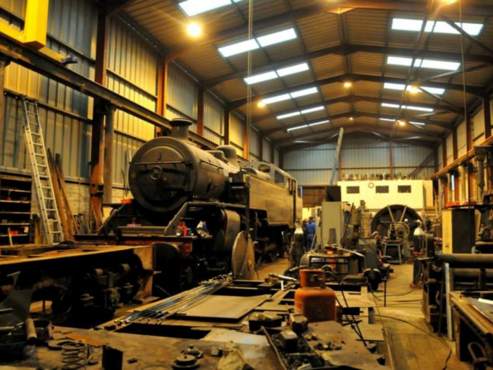 19/1/2015: No.4 under repair in the workshop. (C.P. Friel)