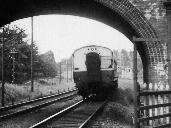 10/6/1957: AEC Driving Trailer 9.55am Aldergrove - Belfast 'Doodlebug' at Finaghy. (T. McDevitte)