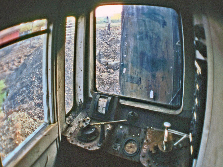 14/3/1981: The driving cab in 9. (C.P. Friel)