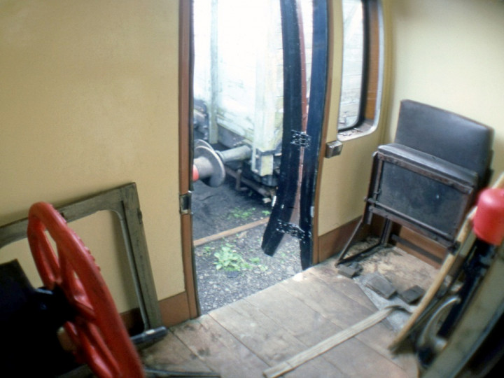 4/6/1986: Driving compartment converted to guard's use. (C.P. Friel)