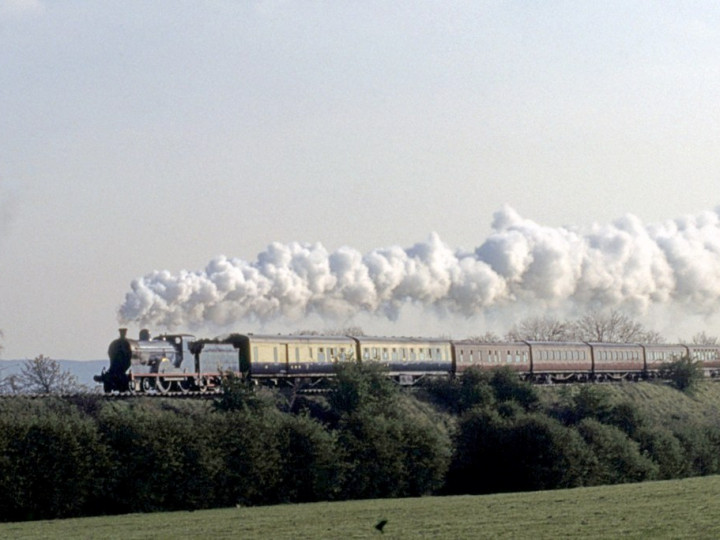 25/4/1993: GNR 9 in the train hauled by No.171 approaching Templepatrick. (C.P. Friel)