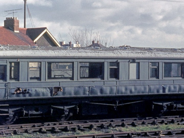The saloon in dilapidated state at Whitehead, 1970s. (C.P.Friel)