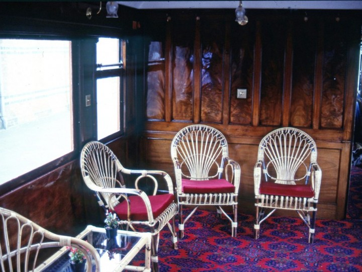 Interior view showing the wicker furniture, July 1981. (C.P.Friel)