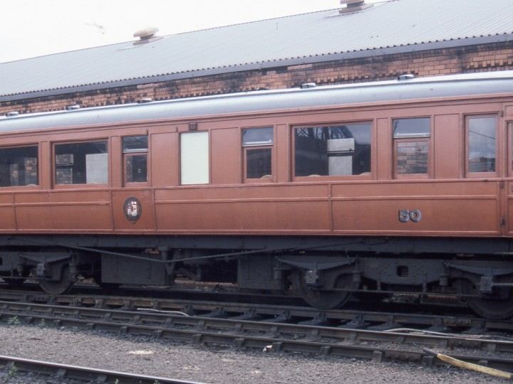 The saloon between trips at Belfast's Central Service Depot. (C.P.Friel)