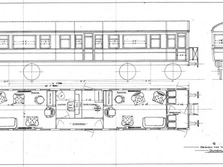 1911: Interior layout.