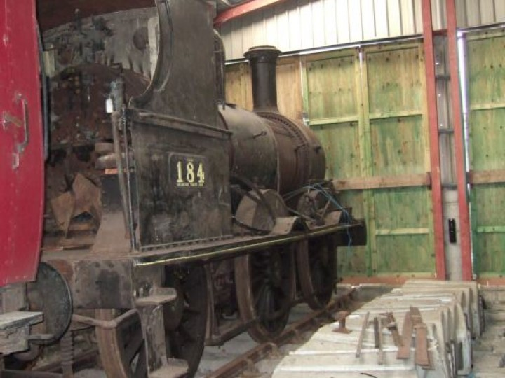 No.184 in store at Whitehead in 2006. (M.Walsh)