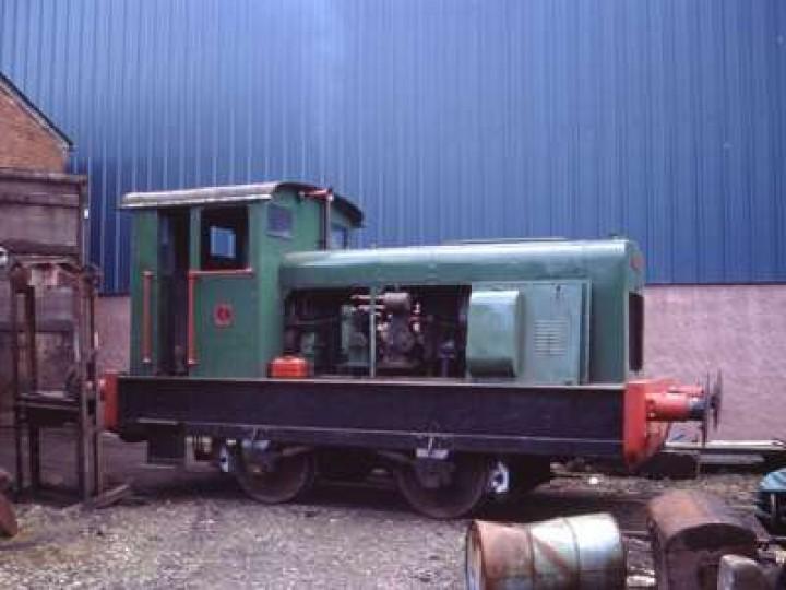 Ruston diesel No.1 at Whitehead in 2001. (P.Lockett)