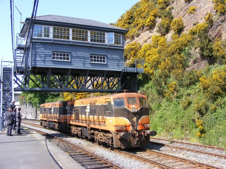 141, working in multiple with sister 171, at Waterford on during the RPSI's 'Comeragh' Railtour in 2009. (C.P.Friel)