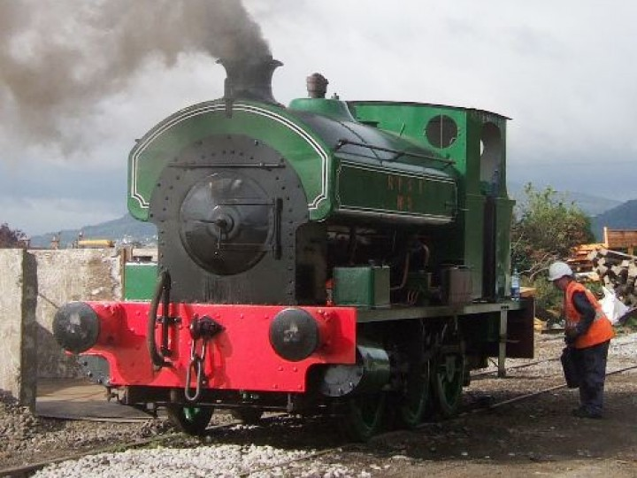 No.3 raises steam for another day of ballast working from Greenisland - 5th August 2005. (M.Walsh)