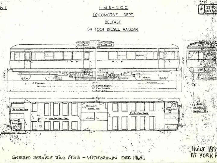 Internal layout of the railcar.