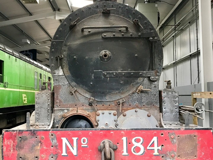 184 under cover at the new Whitehead Railway Museum (S. Conlon)