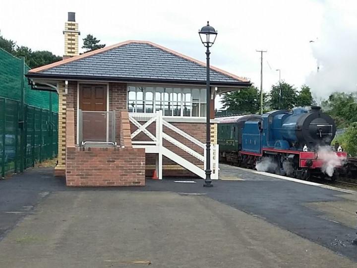 30/7/2016: No.85 passes the cabin with the Whitehead Festival train. (P. McCann)