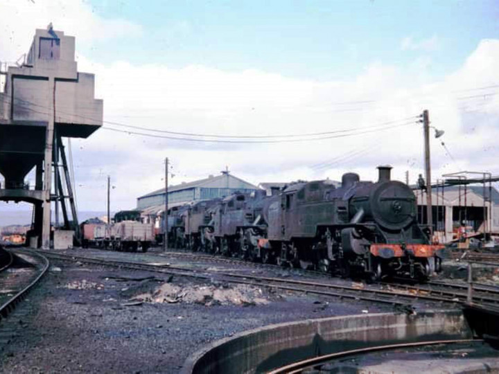 1969: A row of jeeps lined up at York Road, with No.4 at the front.