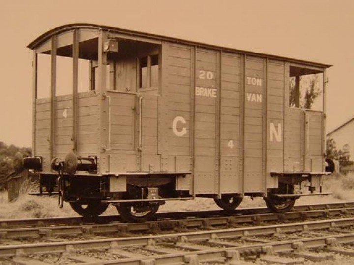 81's sister Brake Van 4 soon after completion in a specially-posed 'works' photograph. (Duffners, Dundalk)